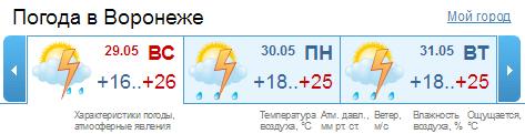 Воронеж погода в воронеже